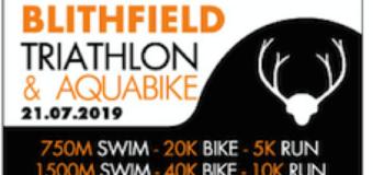 Blithfield Triathlon – Pre race details & Start List